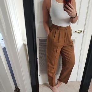 Vintage tan trouser pants